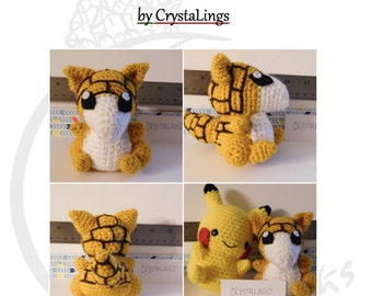 Pattern Sandshrew Amigurumi Crochet Pokemon PDF