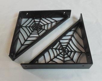 8 Inch Spiderweb Shelf Brackets, Corner Brace or Accent
