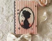 Notebook -  mini notebook - illustrated notebook - heart - tattoo girl - Cameo