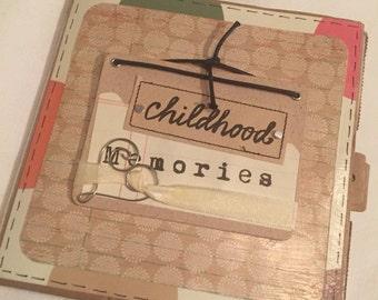 Free shipping --Childhood memories junk journal/photo album