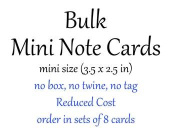 8 MINI notecards per set - MINI Note Cards Bulk Order