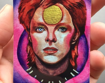 David Bowie Stickers, David Bowie Art, David Bowie Painting
