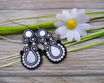 earrings / soutache technique / handmade 8cm