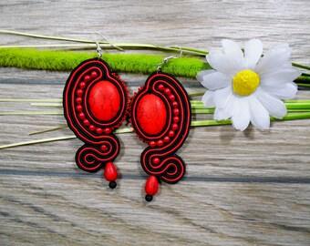 earrings / soutache technique / handmade (nr73)
