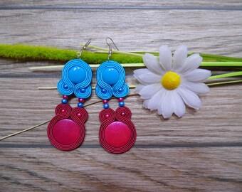 earrings / soutache technique / handmade (nr260)