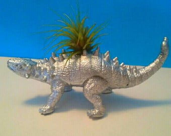 Cool Repurposed Dinosaur Air Planter, Handmade, Upcycled, Recycled, Dinosaur Decor, Air Plant, Made By Mod.