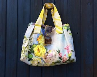 Floral rose handbag
