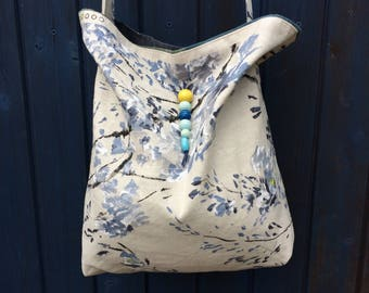 Plum blossom fabric bag