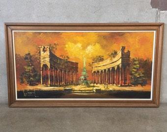 Vintage Mid Century Painting (KUN2YZ)