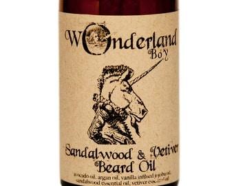 Beard Oil, Sandalwood Beard Oil, Vetiver Beard Oil, All Natural Beard Oil, Men's Grooming, Gift for Him, Beard Grooming, Beard Conditioner