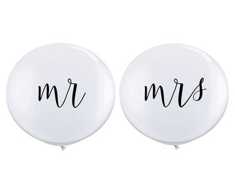 """36"""" Mr. & Mrs.Balloons // Wedding Balloons // Paper and Party Supplies"""