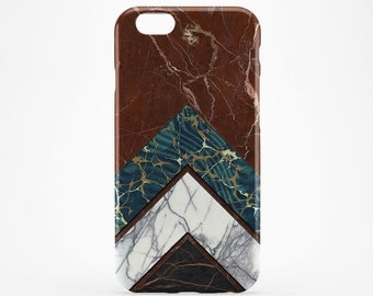 Brown Marble iPhone Case Geometric iPhone 7 Case iPhone 7 Plus Arrows iPhone 6 Case iPhone 4-5 iPhone 6 Plus iPod Marble Galaxy S6 S7 Case
