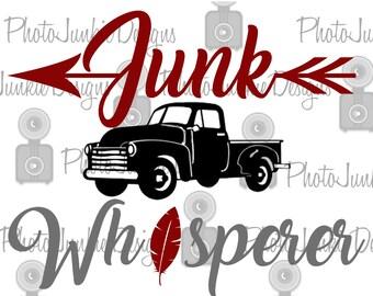 Junk Whisperer  SVG PNG DXF Printable Jpeg Cutting File Digital File