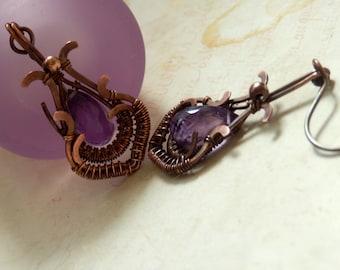 Katina * amethyst earrings