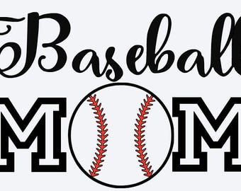 SVG, baseball mom, baseball svg, baseball fan, mom of a baseball player, cut file, printable file,  cricut, silhouette, instant download