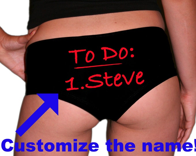Custom To Do Underwear Red Text