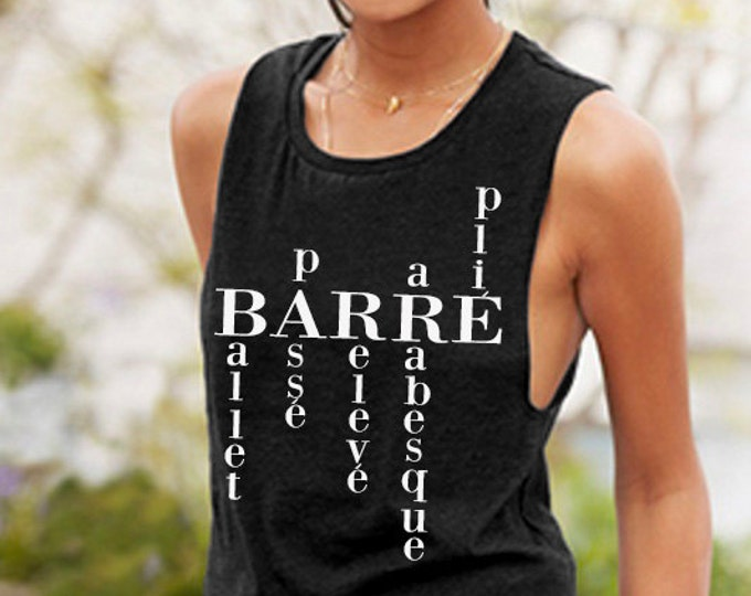 Barre Words Muscle Tee