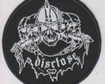 Disclose punk hardcore embroidered patch - 5 skulls
