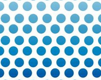 Ombre Dots in Blue Premium Cotton Fabric from  Riley Blake Fabrics