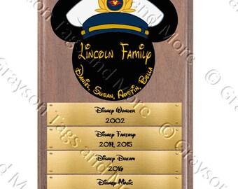 Large Cruise Plaque Style Disney Cruise Door Magnet