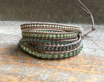 Dana Beaded Wrap Bracelet
