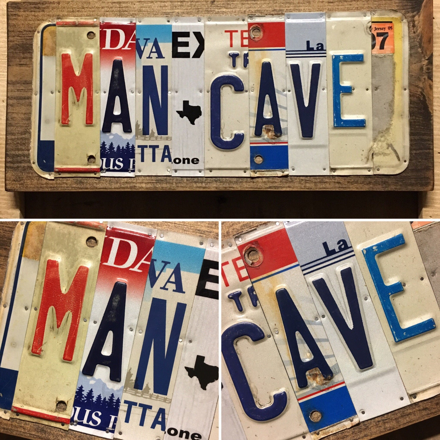 Man Cave Gift Ideas : Father s day gift idea man cave sign license plate