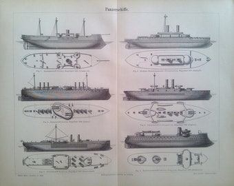 "Lithography, ""Ironclads""."