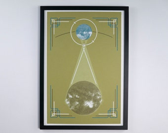 "Solar Eclipse - Astronomy Poster - 12.5 x 19"" - Screen Printed"