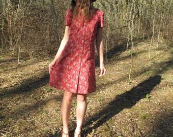 Désirée dress/Liberty dress/Red dress/Short sleeve dress/Cotton dress