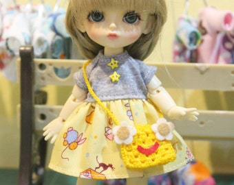 Dress and Bag For Lati Yellow / Pukifee Outfit #L022