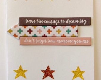 Encouragement Card - Handmade Greeting Card - Graduation Card