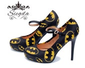 Vigilante's Signal- Classic Logo- Choose Your Style- Wedding- Geek- Bride- Gift- comic book- Christmas- Comic Book- Superhero- Custom Shoes