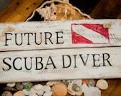 Scuba diving Scuba Diver Gift Beach nursery decor Nautical nursery Nursery wall art Nautical wall decor Nursery decor Baby boy nursery