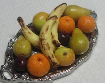 Artisan dollhouse dolls house food  fruit platter S/16