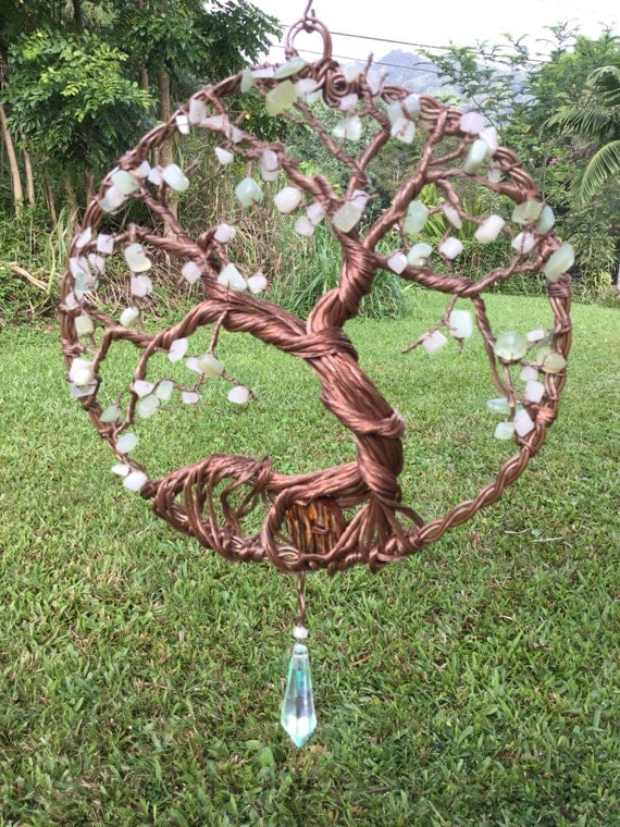 Items similar to xlarge tree of life suncatcher crystal for How to make a wire tree of life sculpture