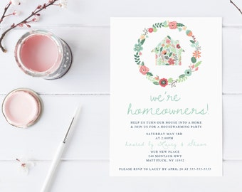 Housewarming Party Invitation, Housewarming Invitation, Printable Invitation, Our First Home, Our New Home, Housewarming Invitations [198]