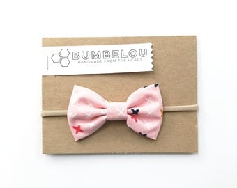 Classic Fabric Bow - Knockout - Headband or Clip