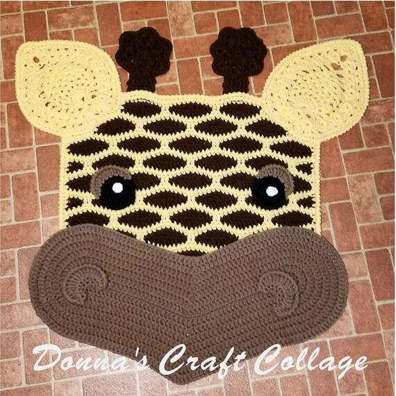 Items Similar To Giraffe Crochet Rug