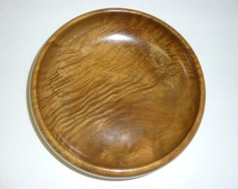 Vintage Myrtlwood Bowl Hand Turned Solid Oregon Coast Wood Fruit Salad Large Bowl