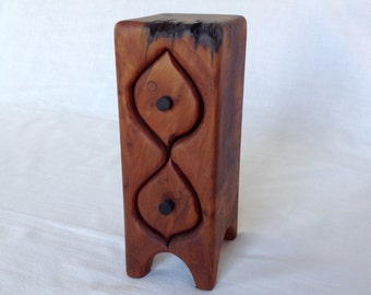 Two Drawer California Craft Redwood Jewel Box