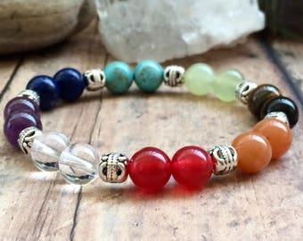 Chakra Bracelet, Chakra Crystal Bracelet, Yoga Bracelet, Mala Bracelet, 7 Chakra Bracelet, Yogini Bracelet, Chakra Wrist Mala