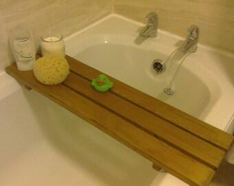 Handmade Rustic Bath Plank