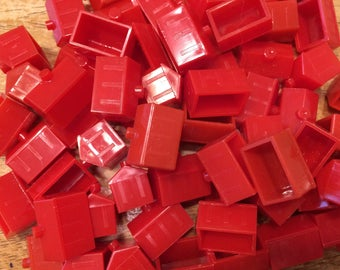 Lot of 139 Red Monopoly Hotels from Many Monopoly Games