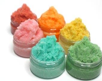 Custom Sugar Scrub - Choose your Scent, Size & Color - Facial Scrub, Natural Body Scrub, Sugar Scrub, Exfoliating Scrub