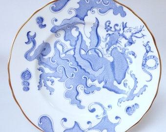 RESERVED FOR Florence  Blue Dragon plate, milk jug, sugar bowl,  Royal Worcester Platter