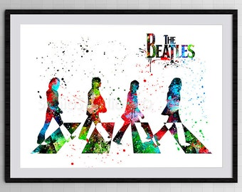 The Beatles Watercolor Art Print #2 Archival Fine Art Print Home Decor Children's Wall Art Wall Hanging Birthday Gift