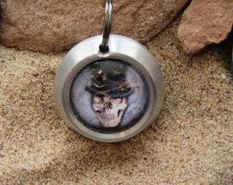 Aluminium Steampunk/goth skeleton pendant necklace