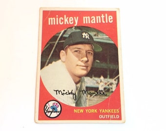 1959 Topps Mickey Mantle baseball card