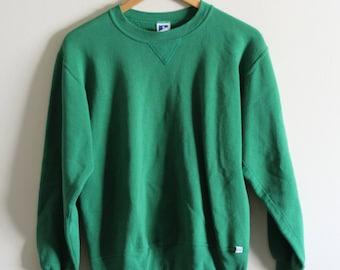 80's 90's Vintage Russell Athletics plain blank crewneck sweatshirt | Small | Made in USA