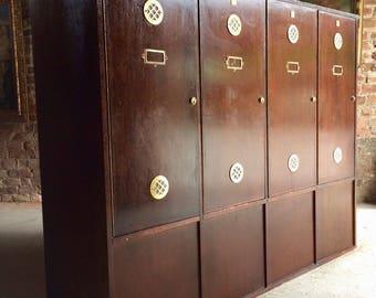 Stunning Haberdashery Lockers Cabinet Vintage Retro Mid Century Industrial WOW!